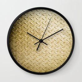 Gold Painted Metal Stylish Design Wall Clock