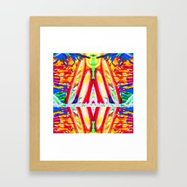 Tropical reflection Framed Art Print