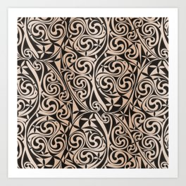 Celtic Warlord carbon Art Print