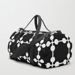 Droplets Pattern - Black & White Duffle Bag