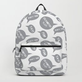 CELEBRATION PARTY TIME MID GREY  SPEECH BUBBLES GOOD TIMES Backpack