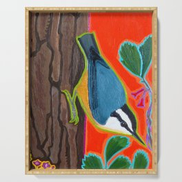 Red Breasted Nuthatch Serving Tray