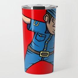 Dabbing Policeman Police Dab Funny Travel Mug