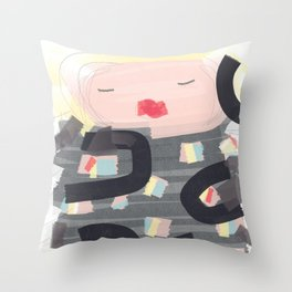 Be a doll - Vindi Vindaloo Design Throw Pillow
