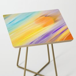 """""""Catch the Sun #1 – Sequel #2"""" Oil Painting Side Table"""