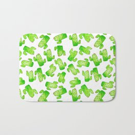 Watercolor Cacti Bath Mat