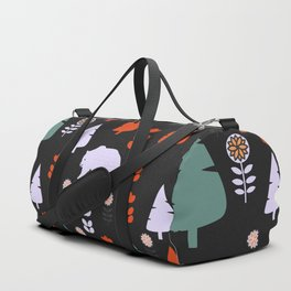 Bear forest at night Duffle Bag