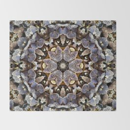 Mushroom Mandala 2 Throw Blanket