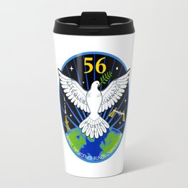 Expedition 56:  Actual Flight Patch Travel Mug