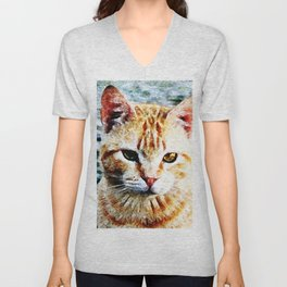Young Yellow Cat Unisex V-Neck