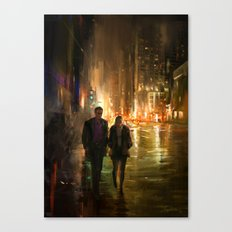 Lights will guide you home Canvas Print