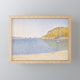 Port of Saint-Cast Framed Mini Art Print