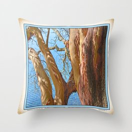 MADRONA TREE BY THE SEA Throw Pillow