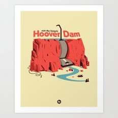 The Hoover Dam Art Print