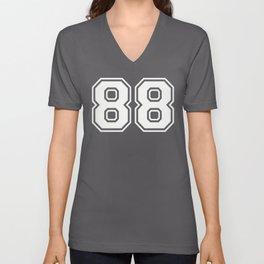 Number 88 Eighty Eight Unisex V-Neck