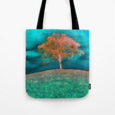 ABSTRACT - solitary tree Tote Bag