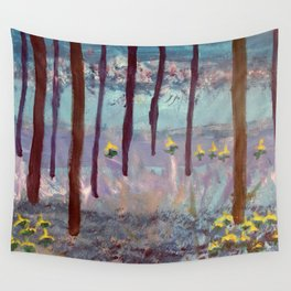 Beauty in the woods - Painting by young artist with Down syndrome Wall Tapestry