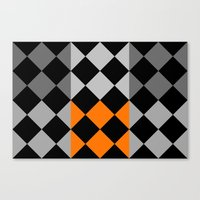 orange pattern Canvas Prints featuring Pattern orange by LoRo  Art & Pictures