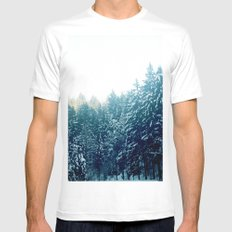 forest X-LARGE White Mens Fitted Tee