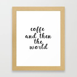 Coffee Bar Decor, Coffee Sign, Kitchen Decor, Kitchen Wall Art Framed Art Print