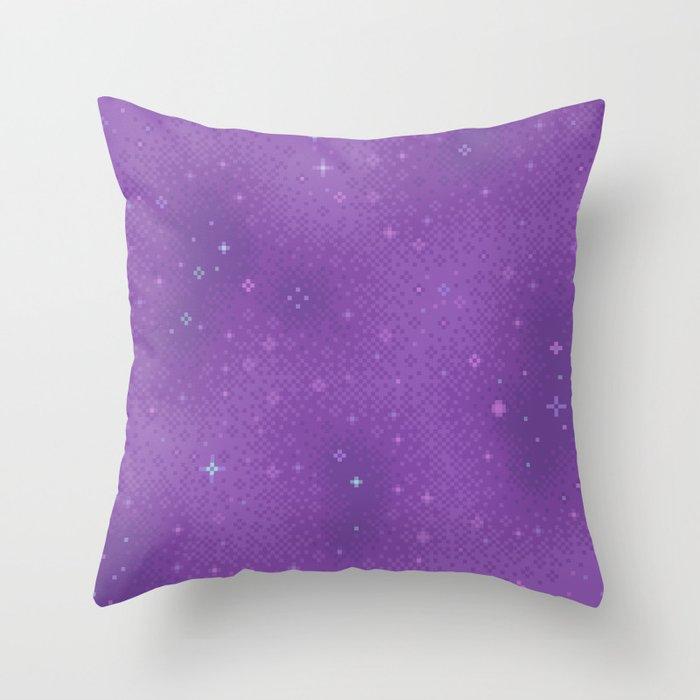 Purple Night Nebula Throw Pillow