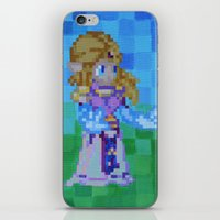 8bit iPhone & iPod Skins featuring 8bit Zelda by Cariann Dominguez