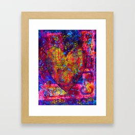 heARTFUL 1 - Mixed Media Art Framed Art Print