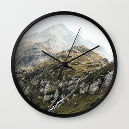 Rugged Mountains Wall Clock
