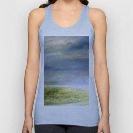 Sea Shore Watercolor Ocean Landscape Nature Art Unisex Tank Top