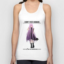 I don't date I'm a unicorn Unisex Tank Top