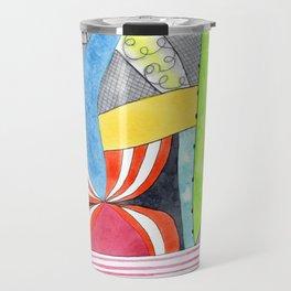 Wonderful Mixture of Geometric and Organic Shapes Travel Mug