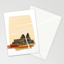 Modern abstract landscape Stationery Cards