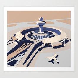 Soviet Modernism: Zvartnots airport, Armenia Art Print