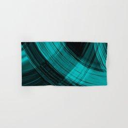 Iridescent arcs of ultramarine curtains of hanging flowing lines on velvet fabric. Hand & Bath Towel