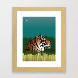 Alphabetic Animals: Tiger in the Field Framed Art Print
