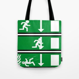Fire Exit Funny. Tote Bag