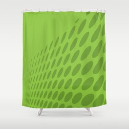 GREEN DOTS ON A GREEN BACKGROUND Abstract Art Shower Curtain