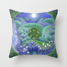 Triskelion Nightly Stillness Throw Pillow