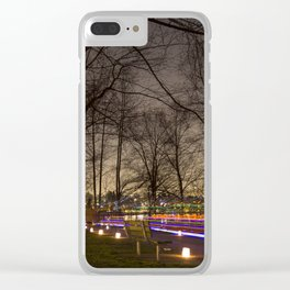 Rainbow Trails Clear iPhone Case