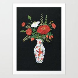 Chinese vase Art Print