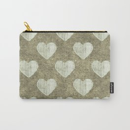 Hearts Motif Pattern Carry-All Pouch