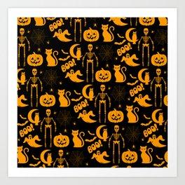 C13D Halloween Pattern Art Print