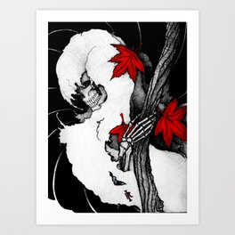 Death in Fall Art Print