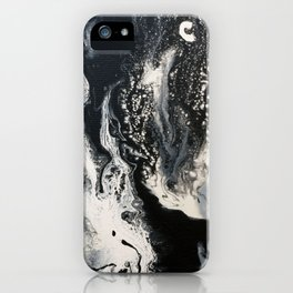 Black and White Marble iPhone Case