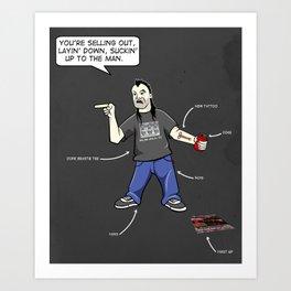 Tool Hooker Art Print