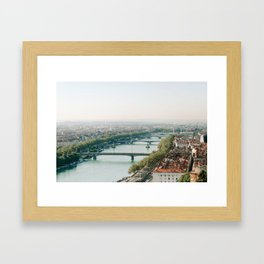 Sunrise over Lyon Framed Art Print