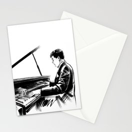 pianist plays the piano concert of classical music Stationery Cards