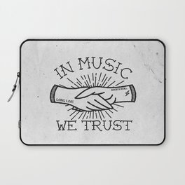 In Music We Trust Laptop Sleeve
