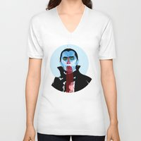 vampire diaries V-neck T-shirts featuring Vampire by Alvaro Tapia Hidalgo