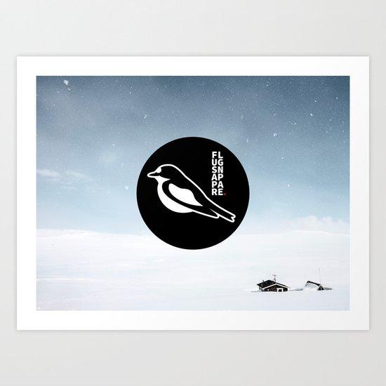 Flugsnappare Art Print